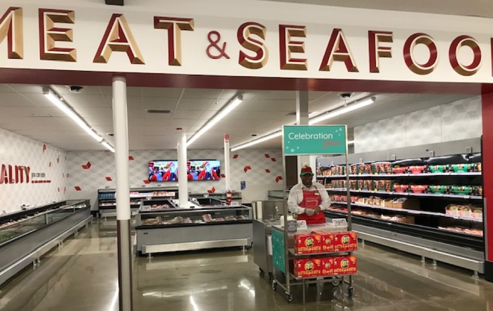 Sam's Club Now: Separate meat area in Sam's Club Now