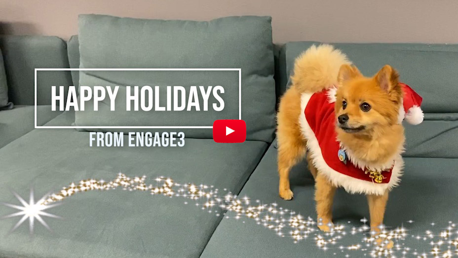 Engage3 holiday video 2019: Let it snow, let it snow, let it snow!